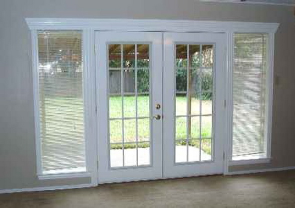 French and double glazed patio doors for Double entry patio doors
