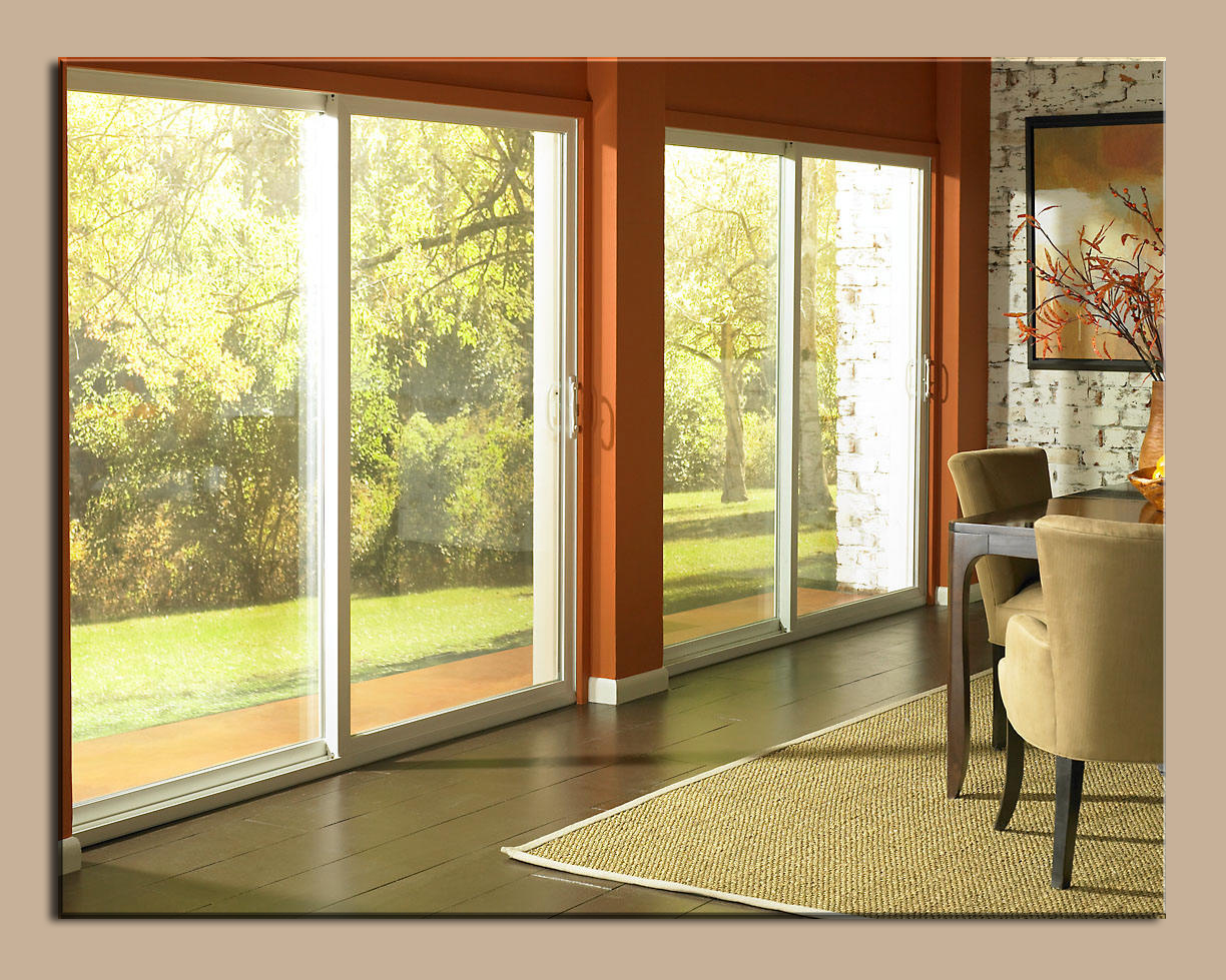 Patio doors with blinds home depot doors inside main door for Sliding main door