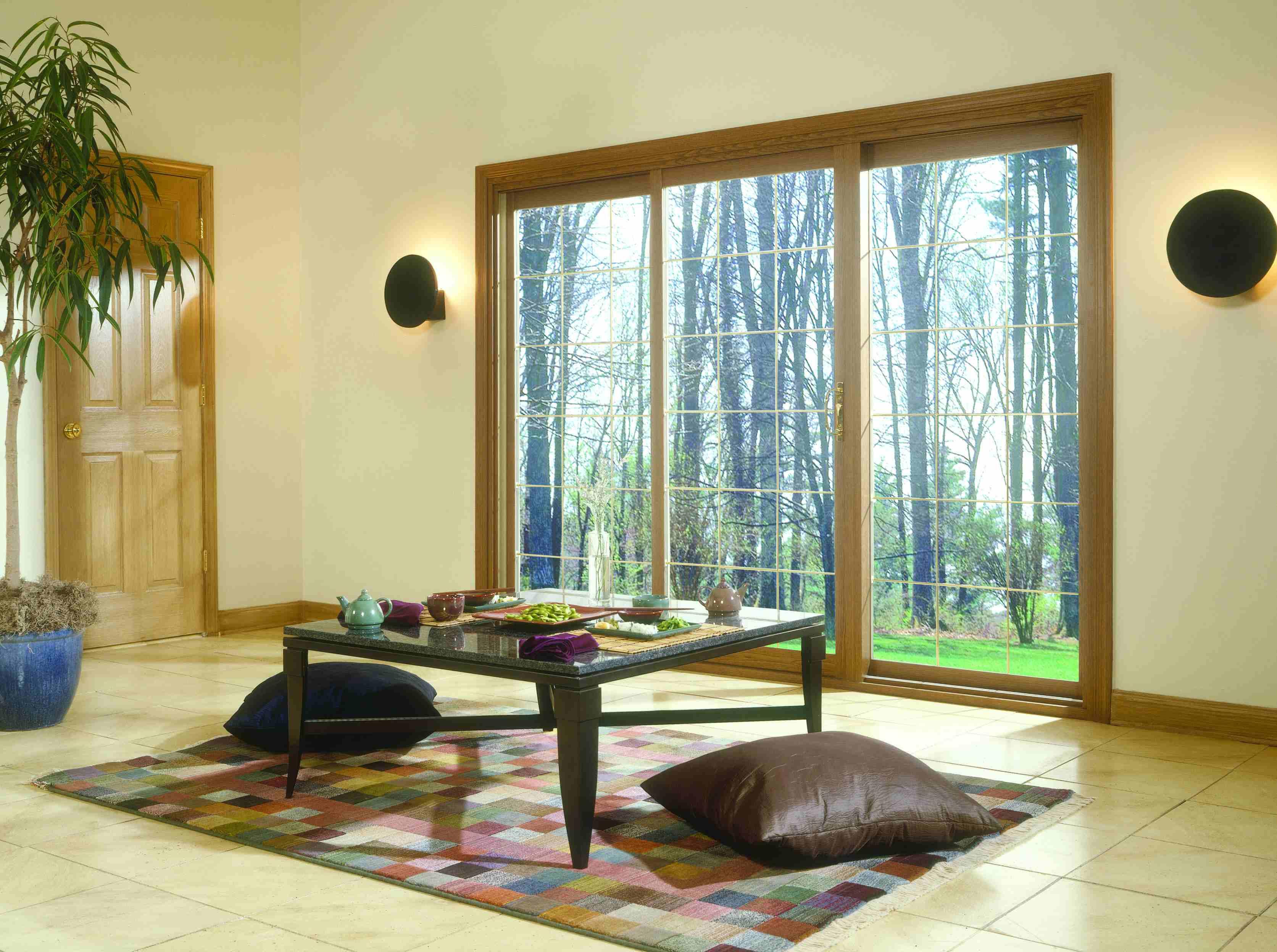 Room with panoramic patio doors minimalistic room with panoramic patio doors planetlyrics Gallery
