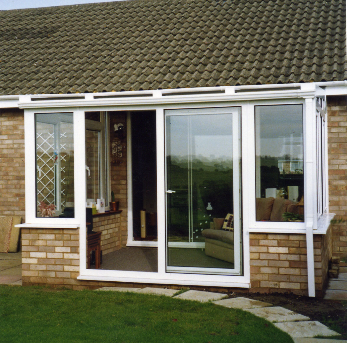 French and double glazed patio doors for Double glazed porch doors