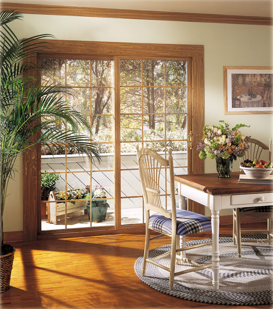 Wood decorated Patio doors